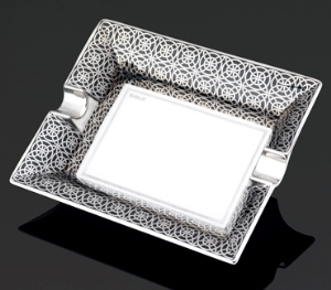 Siglo Opulent Series Ashtray Silver - Large
