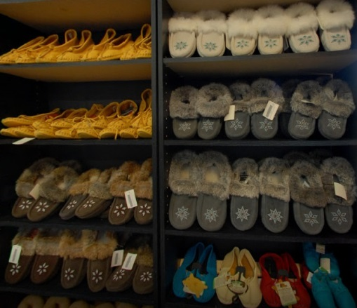 Wahta Station Store Moccasins Shelves